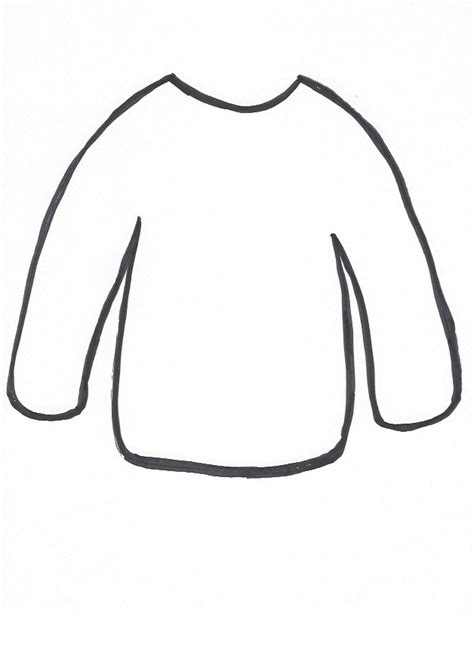 Sweater Template Christmas Sweater Collage Craft For Kids