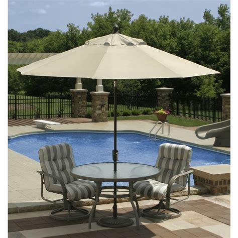 Inc Rok Linen Umbrella 2 market umbrella cast iron base 50 lbs