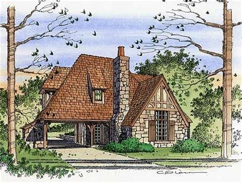 Tiny Romantic Cottage House Plan Plan W4614pr Cottage Small House Plans Tudor