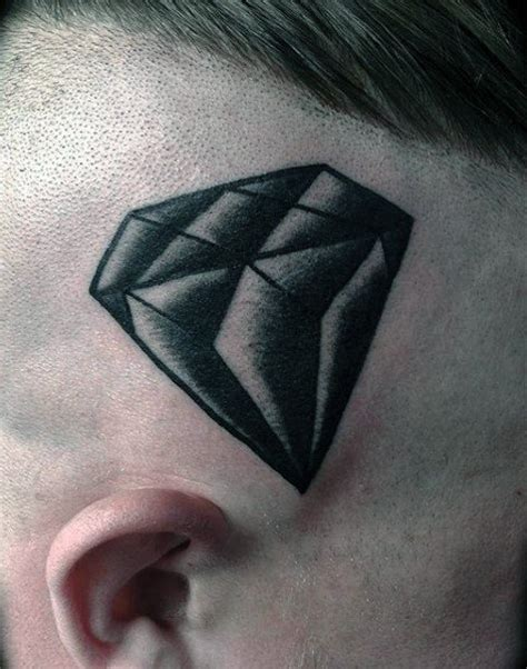 diamond tattoo on head 70 diamond tattoo designs for men precious stone ink