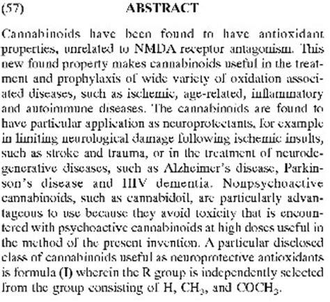 worth repeating govt  patent  cannabinoids