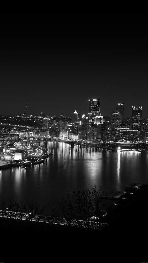 wallpaper iphone 6 view pittsburgh city dark skyline at night iphone 6 plus hd