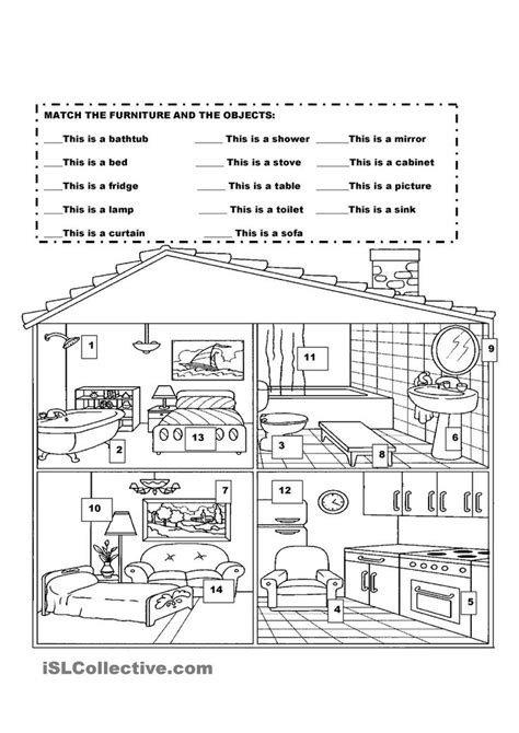 my house printable activities furniture in the house kindergarten pinterest