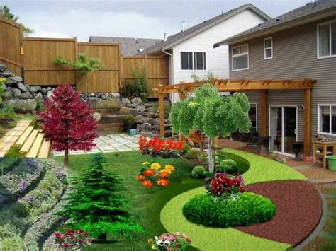 Small Sloped Backyard Ideas Here You Go Small Yard Landscaping Ideas Using Gravel On A Slope