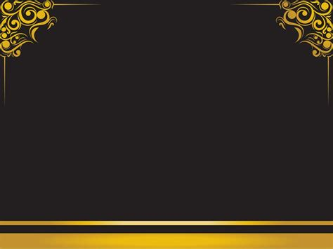 Luxury Frame Backgrounds Black Border Frames Yellow Templates Free Ppt Backgrounds And Luxury Powerpoint Template
