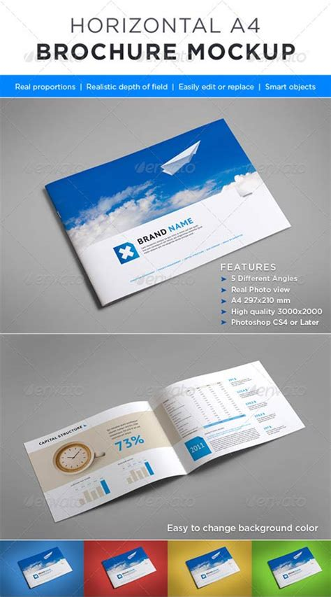 horizontal brochure template graphicriver horizontal brochure mock up avaxhome