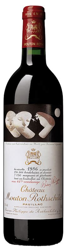 ch 226 teau mouton rothschild the labels room ch 226 teau mouton rothschild 1986