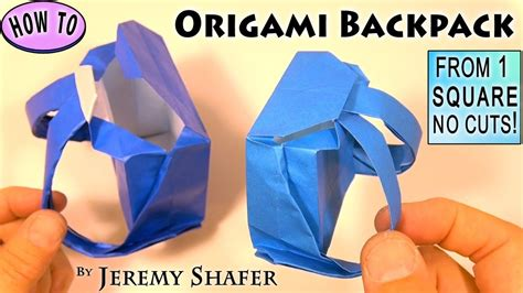 How To Make A Paper Backpack - origami backpack my crafts and diy projects