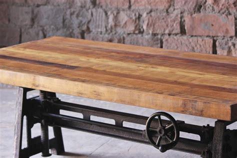 adjustable height kitchen table hyatt fulton industrial adjustable height coffee dining