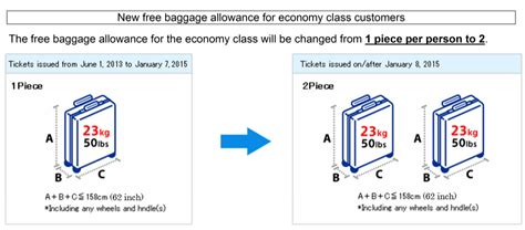 united baggage restrictions ana increases economy baggage allowance to 2 bags