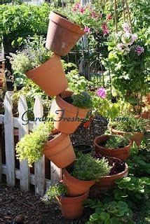 Terracotta Pot Vertical Garden 1000 Images About Stacked Gardens On Vertical