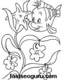 printable flounder mermaid coloring pages girls printable coloring pages kids