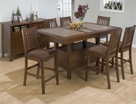 counter height dining table sets with butterfly leaf jofran 976 72 barnes rectangular counter height 7pc