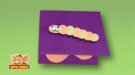 arts crafts 3 8415867018 arts crafts how to make a caterpillar greeting card youtube