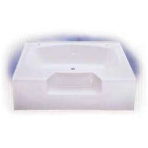 bathtub 60 x 40 60 quot x 40 quot garden tub with outside step heavy duty abs