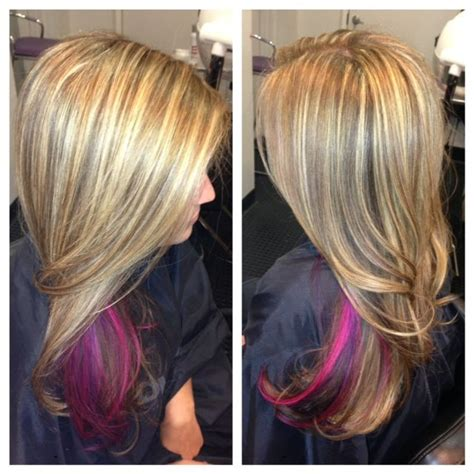 hairstyles with highlights underneath 1000 ideas about blonde underneath hair on pinterest