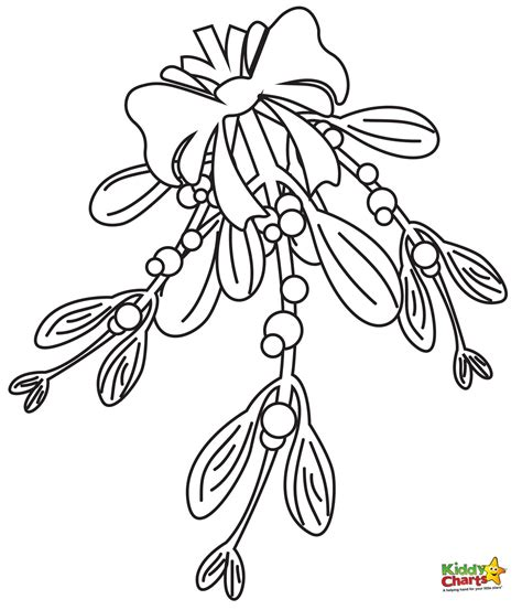 mistletoe coloring page
