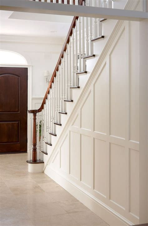 entry stair railing split foyer walls trim molding