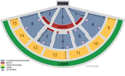tweeter center seating chart xfinity center mansfield ma seating chart view