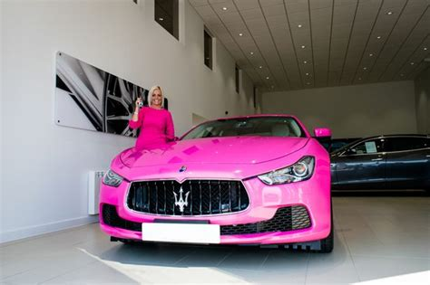 pink maserati this woman owns the first pink maserati in the uk and it