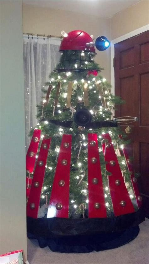 dalek christmas tree decorate decorate technabob