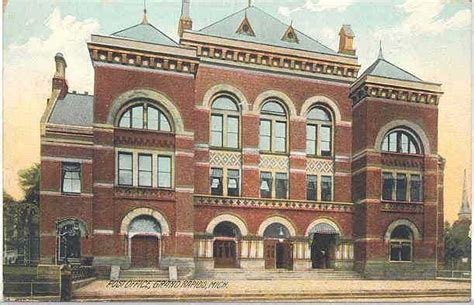 Grand Rapids Post Office by Grand Rapids Post Office 1908 Grand Rapids 1900s