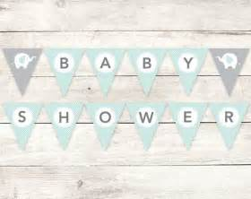 Printable Bunting Letters Baby Shower Banner Printable Diy Bunting Banner Elephant