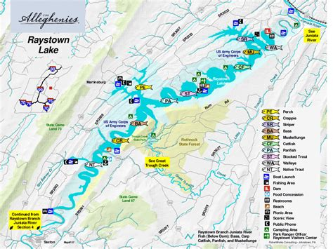 pa fish and boat access points raystown lake the alleghenies