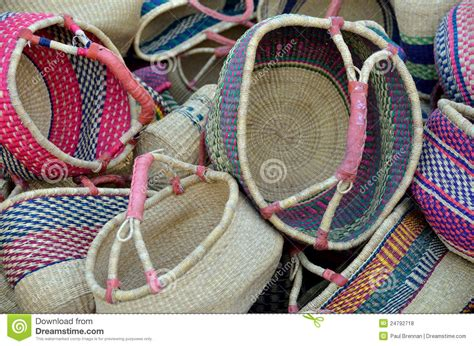 colorful woven baskets colourful woven baskets royalty free stock photos image