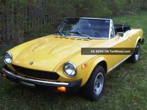 1978 Fiat Convertible 1978 Fiat 124 Spider Convertible 2 Door 1 8l