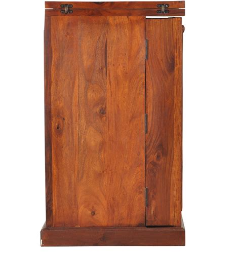 montevideo solid wood bar cabinet in honey oak finish by