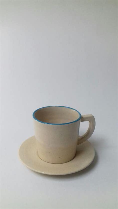 Souvenir Cangkir Keramik jual souvenir cangkir bahan keramik blue line cup