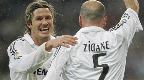 imagenes zidane real madrid beckham feiert zidane was gibt es besseres fussball