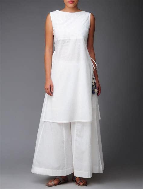 kurti pattern in white buy white applique organic cotton tunic online organic