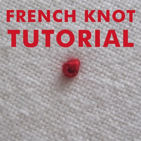 Knots Tutorial - embroidery knot tutorial makaroka
