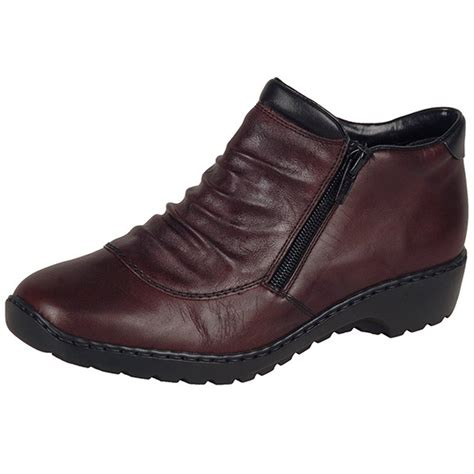 comfortable boots for women rieker witney l6052 35 women s comfortable wide fit red