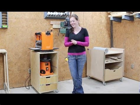 build  mobile shop cart planer stand youtube