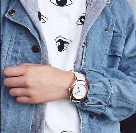 Blouse Denim 124 shirt denim jacket printed t shirt anime white t shirt denim jacket grunge