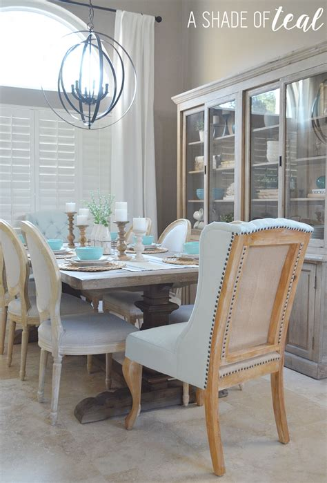 rustic modern dining room home projects a shade of teal modern rustic dining rooms