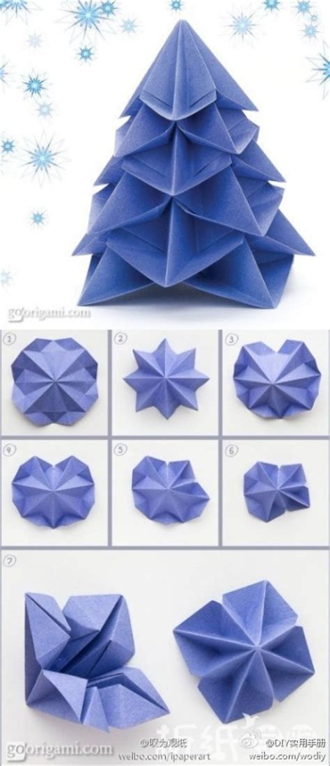 Steps To Make Paper Crafts - how to make paper craft origami trees step by