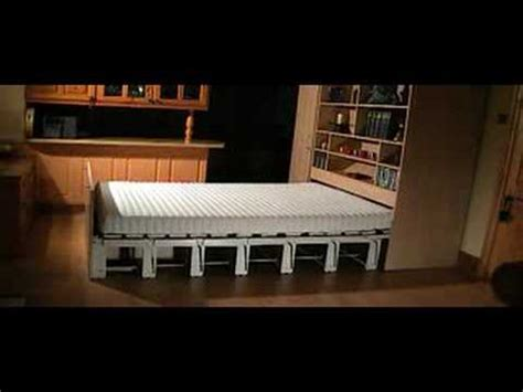 bed that comes out of the wall concealed bed youtube