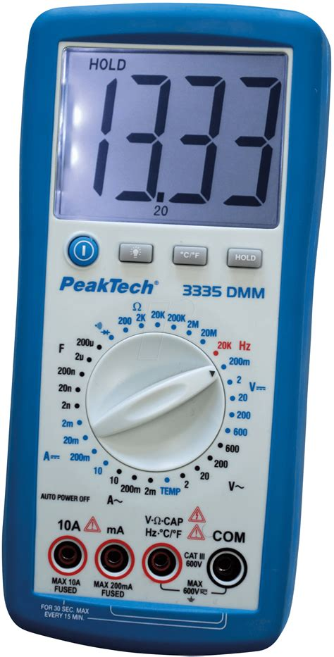 Multimeter Elektronik peaktech 3335 digital multimeter at reichelt elektronik