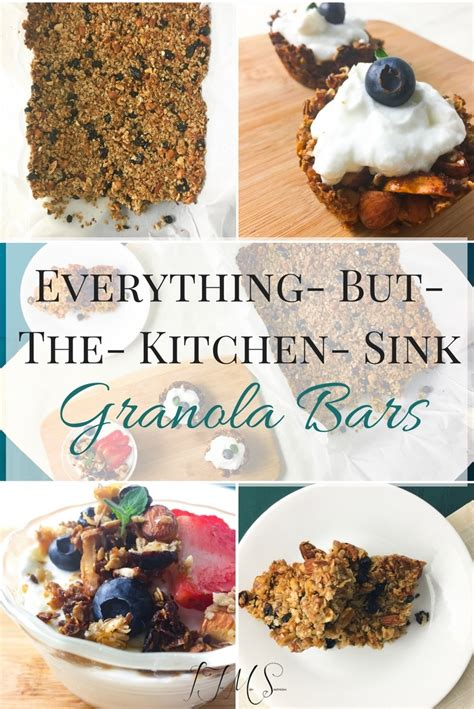 Everything But Kitchen Sink Everything But The Kitchen Sink Granola Bars I Just Make Sandwiches