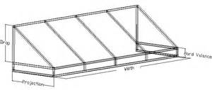 awning frame drawings