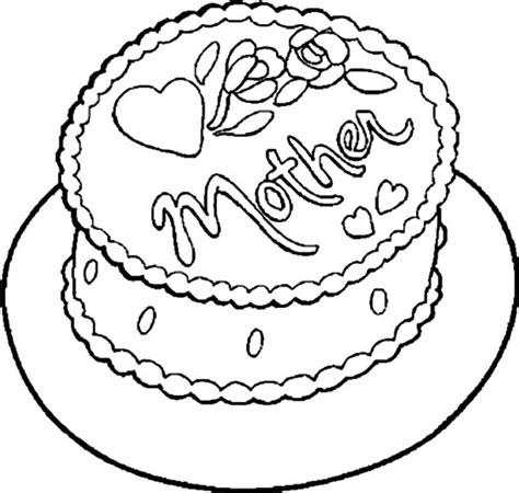 chocolate cake coloring page netart 1 place for coloring for kids part 5