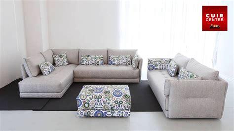 canapé 5 places droit meuble salon en bois