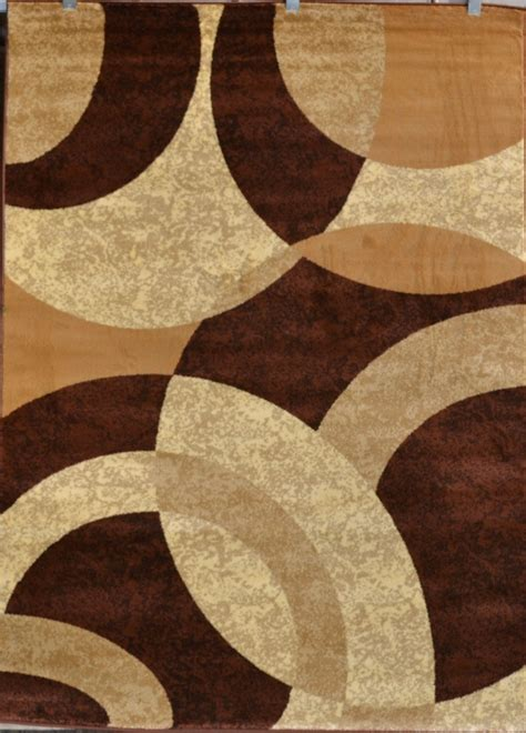 Brown Beige Black Modern Geometric Contemporary Area Rug Modern Pattern Rugs