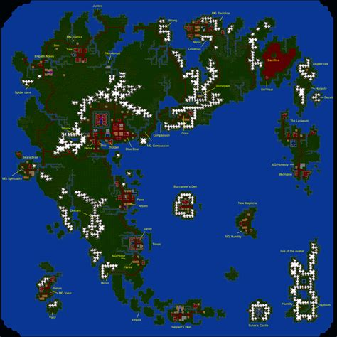 map vi annotated map of ultima 6 minor spoilers