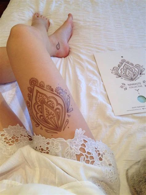 buy brown henna transfer tattoo from namaste collective