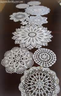 lacy crochet doily mix table runner